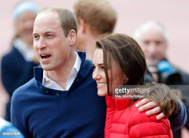 Prince William Duke of Cambridge and Catherine Duchess of Cambridge join a Team Heads Together London Marathon Training Day at the Queen Elizabeth...