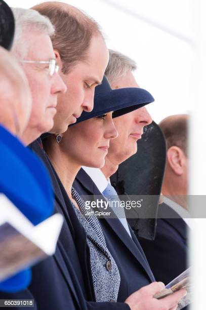 Prince William Duke of Cambridge and Catherine Duchess of Cambridge during the dedication and unveiling of The Iraq and Afghanistan memorial on March...