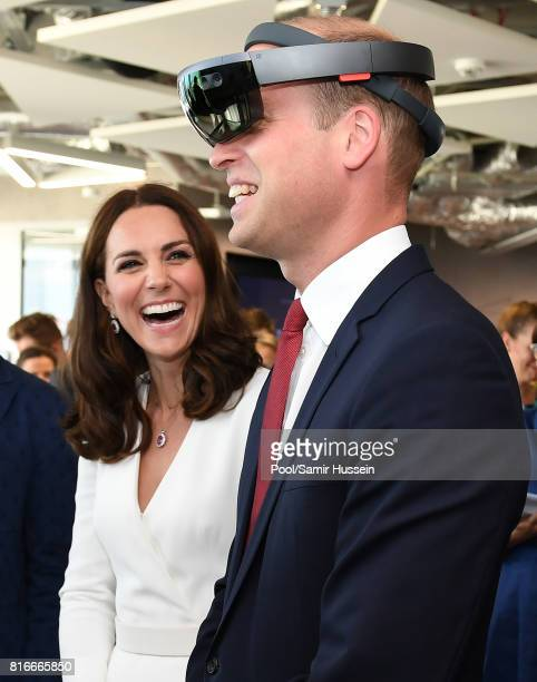Prince William Duke of Cambridge and Catherine Duchess of Cambridge attend a Tech Market event for Polish Business during an official visit to Poland...