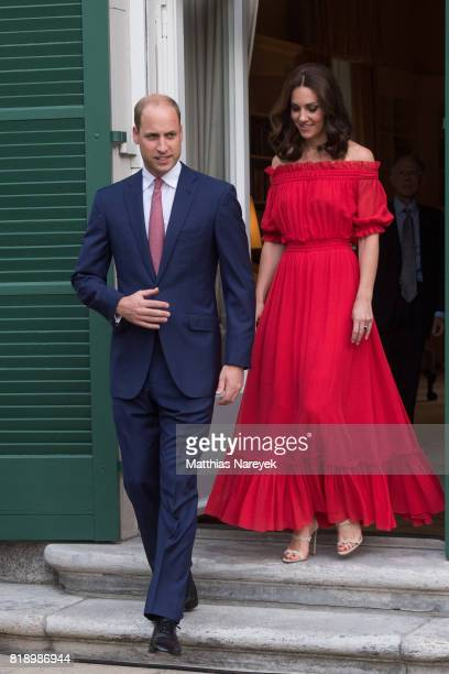 Prince William Duke of Cambridge and Catherine Duchess of Cambridge attend The Queen's Birthday Party at the British Ambassadorial Residence on the...