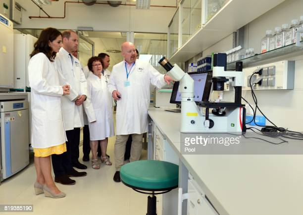 Prince William Duke of Cambridge and Catherine Duchess of Cambridge accompanied by BadenWurttemberg's Minister President Winfried Kretschmann and his...