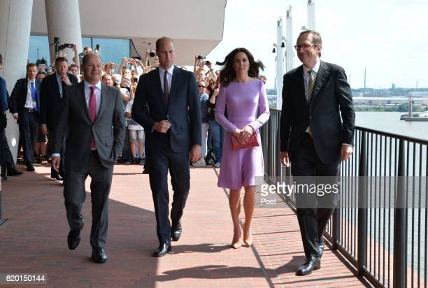 Prince William Duke of Cambridge and Catherine Duchess of Cambridge visit the Hamburg Elbphilharmonie with General and Artistic Director of the...