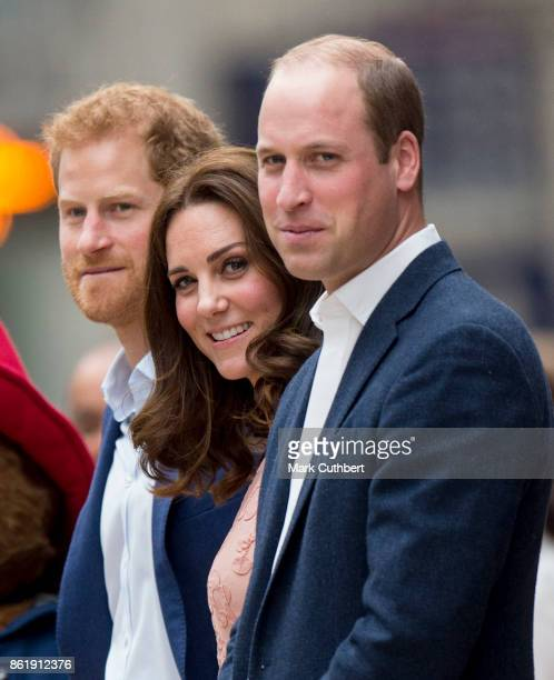 Prince William Duke of Cambridge and Catherine Duchess of Cambridge with Prince Harry attend the Charities Forum Event on board the Belmond Britigh...