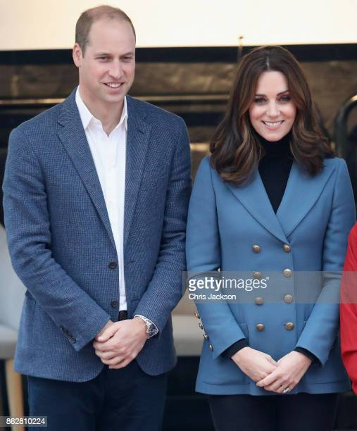 Prince William Duke of Cambridge and Catherine Duchess of Cambridge attend the Coach Core graduation ceremony for more than 150 Coach Core...