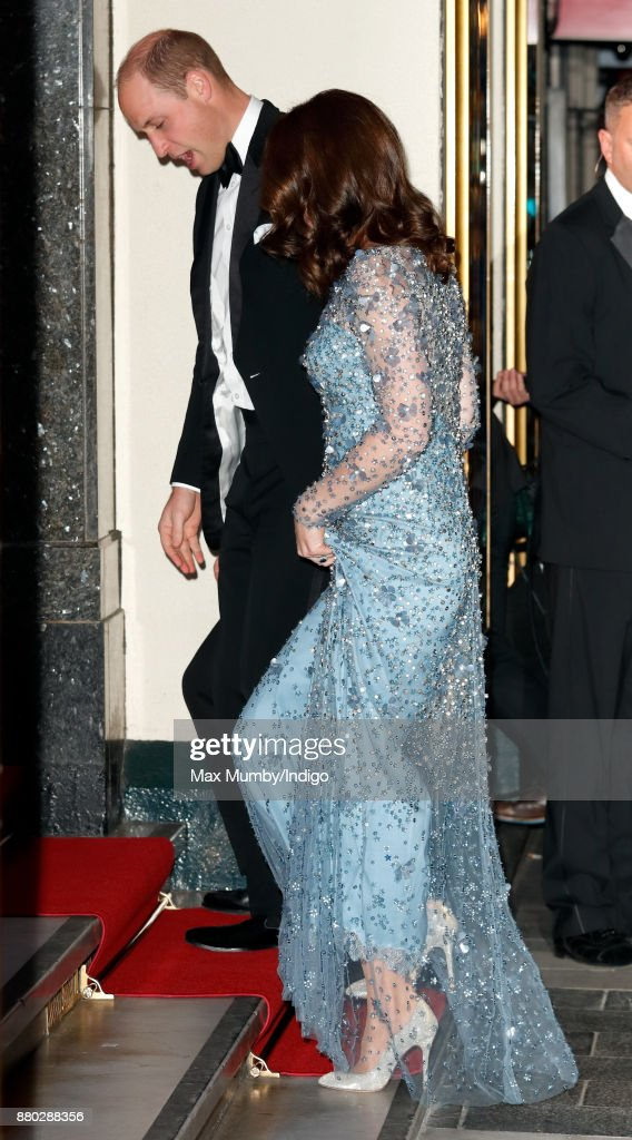 Prince William, Duke of Cambridge and Catherine, Duchess of Cambridge attend the Royal Variety Performance at the Palladium Theatre on November 24, 2017 in London, England.