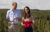 Prince William Duke of Cambridge and Catherine Duchess of Cambridgevisit the Canadian Rangers station on July 5 2011 in Blatchford Lake Canada