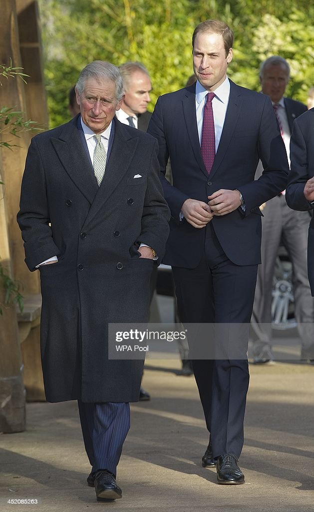 <a gi-track='captionPersonalityLinkClicked' href=/galleries/search?phrase=Prince+William&family=editorial&specificpeople=178205 ng-click='$event.stopPropagation()'>Prince William</a>, Duke of Cambridge (R) and his father <a gi-track='captionPersonalityLinkClicked' href=/galleries/search?phrase=Prince+Charles&family=editorial&specificpeople=160180 ng-click='$event.stopPropagation()'>Prince Charles</a>, Prince of Wales attend a meeting of 'United for Wildlife' at the Zoological Society of London on November 26, 2013 in London, England. The Duke of Cambridge is President of United for Wildlife, a collaboration of seven of the largest global Conservation organisations.