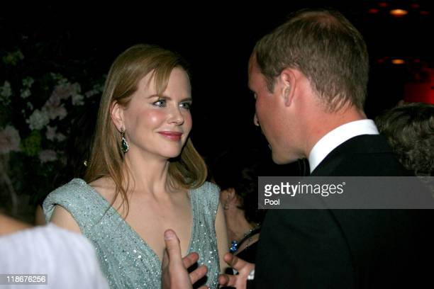 Prince William Duke of Cambridge and Nicole Kidman attend the BAFTA 'Brits to Watch' event held at the Belasco Theatre on July 9 2011 in Los Angeles...
