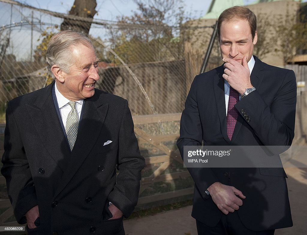 <a gi-track='captionPersonalityLinkClicked' href=/galleries/search?phrase=Prince+William&family=editorial&specificpeople=178205 ng-click='$event.stopPropagation()'>Prince William</a>, Duke of Cambridge and <a gi-track='captionPersonalityLinkClicked' href=/galleries/search?phrase=Prince+Charles&family=editorial&specificpeople=160180 ng-click='$event.stopPropagation()'>Prince Charles</a>, Prince of Wales attend a meeting of 'United for Wildlife' at the Zoological Society of London on November 26, 2013 in London, England. The Duke of Cambridge is President of United for Wildlife, a collaboration of seven of the largest global Conservation organisations.