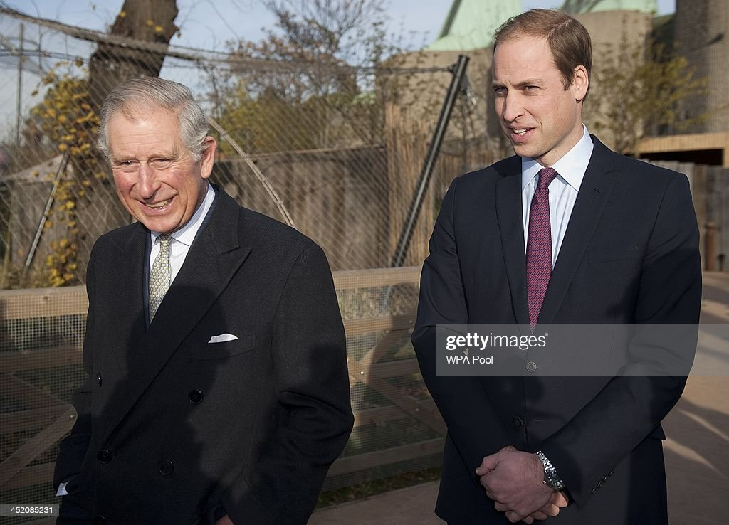 Prince William, Duke of Cambridge and Prince Charles, Prince of Wales attend a meeting of 'United for Wildlife' at the Zoological Society of London on November 26, 2013 in London, England. The Duke of Cambridge is President of United for Wildlife, a collaboration of seven of the largest global Conservation organisations.