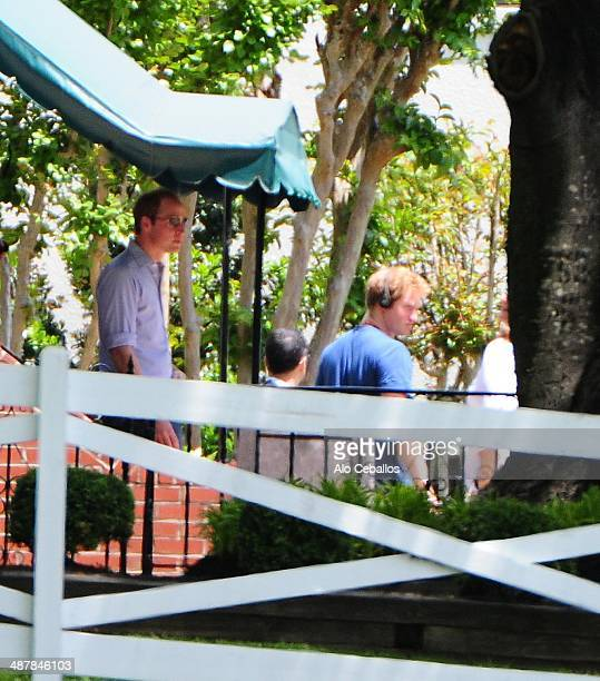 Prince William Duke of Cambridge and Prince Harry are seen on May 2 2014 in Memphis Tennessee The Princes are in town for the wedding of their friend...
