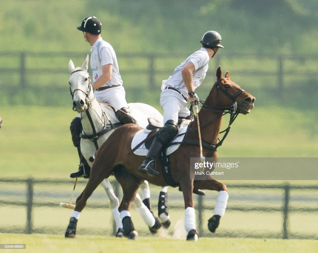 <a gi-track='captionPersonalityLinkClicked' href=/galleries/search?phrase=Prince+William&family=editorial&specificpeople=178205 ng-click='$event.stopPropagation()'>Prince William</a>, Duke of Cambridge and <a gi-track='captionPersonalityLinkClicked' href=/galleries/search?phrase=Prince+Harry&family=editorial&specificpeople=178173 ng-click='$event.stopPropagation()'>Prince Harry</a> at The Audi Polo Challenge at Coworth Park on May 28, 2016 near Ascot, England.