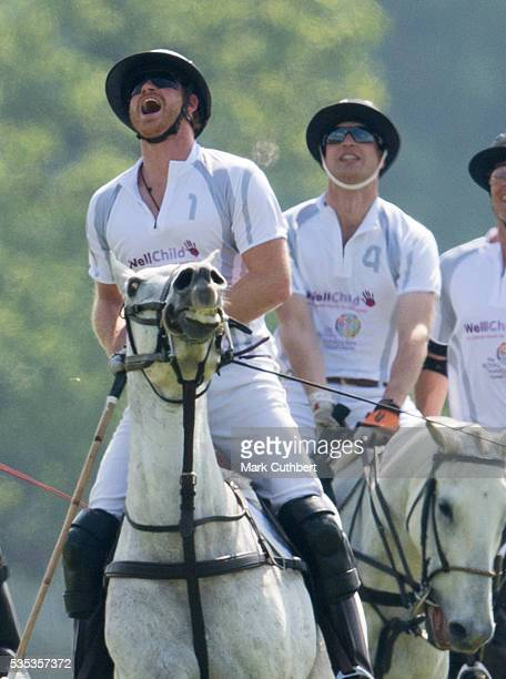 Prince William Duke of Cambridge and Prince Harry at The Audi Polo Challenge at Coworth Park on May 29 2016 in London England