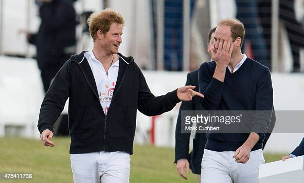 Prince William Duke of Cambridge and Prince Harry attend day two of the Audi Polo Challenge at Coworth Park on May 31 2015 in London England