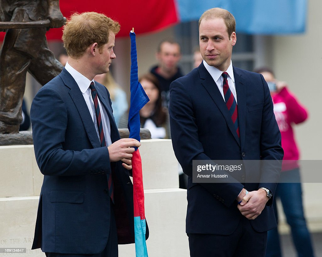 Prince William, Duke of Cambridge and Prince Harry attend the launch of the Hero Ride charity race during a visit to the Help the Heroes Recovery Centre at Tedworth House on May 20, 2013 in Tidworth, England.