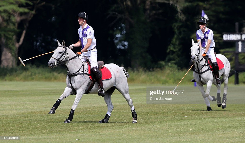 <a gi-track='captionPersonalityLinkClicked' href=/galleries/search?phrase=Prince+William&family=editorial&specificpeople=178205 ng-click='$event.stopPropagation()'>Prince William</a>, Duke of Cambridge (R) and <a gi-track='captionPersonalityLinkClicked' href=/galleries/search?phrase=Prince+Harry&family=editorial&specificpeople=178173 ng-click='$event.stopPropagation()'>Prince Harry</a> take part in The Jerudong Trophy at Cirencester Park Polo Club on July 14, 2013 in Cirencester, England.