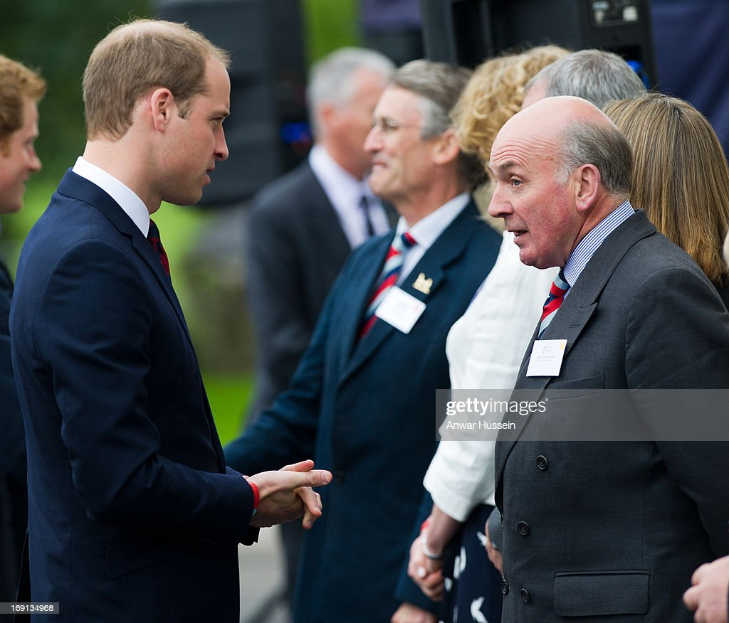 <a gi-track='captionPersonalityLinkClicked' href=/galleries/search?phrase=Prince+William&family=editorial&specificpeople=178205 ng-click='$event.stopPropagation()'>Prince William</a>, Duke of Cambridge and <a gi-track='captionPersonalityLinkClicked' href=/galleries/search?phrase=Prince+Harry&family=editorial&specificpeople=178173 ng-click='$event.stopPropagation()'>Prince Harry</a> visit Help For Heroes Recovery Centre at Tedworth House on May 20, 2013 in Tidworth, England.