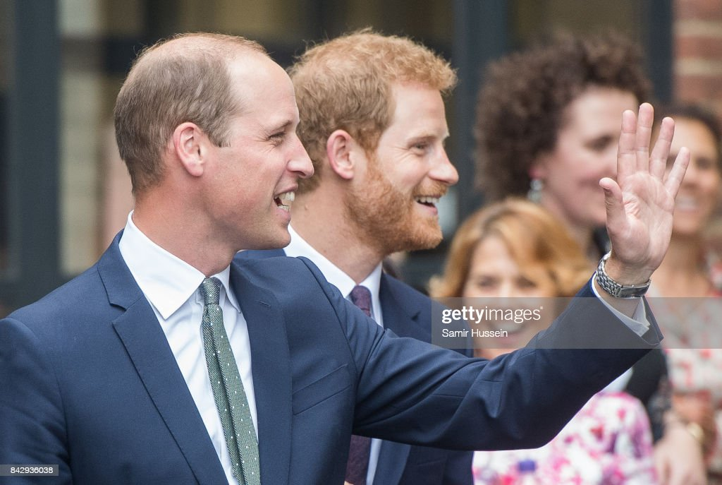 Prince William, Duke of Cambridge and Prince Harry visit to the newly established Royal Foundation Support4Grenfell community hub on September 5, 2017 in London, England. The hub provides bereavement and emotional support for the Grenfell Tower community.