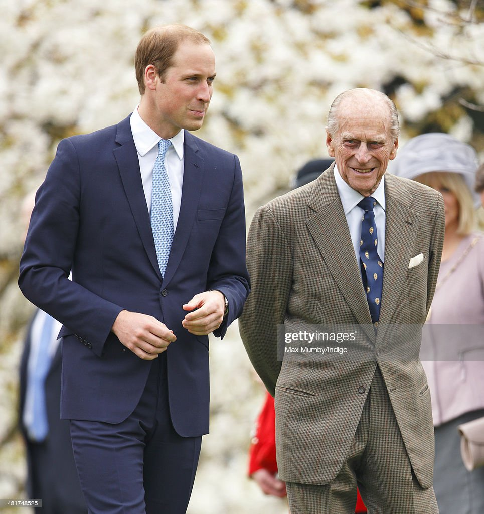 <a gi-track='captionPersonalityLinkClicked' href=/galleries/search?phrase=Prince+William&family=editorial&specificpeople=178205 ng-click='$event.stopPropagation()'>Prince William</a>, Duke of Cambridge and <a gi-track='captionPersonalityLinkClicked' href=/galleries/search?phrase=Prince+Philip&family=editorial&specificpeople=92394 ng-click='$event.stopPropagation()'>Prince Philip</a>, Duke of Edinburgh attend the Windsor Greys Statue unveiling on March 31, 2014 in Windsor, England. The statue marks 60 years of The Queen's Coronation in 2013 and the important role played by Windsor Greys in the ceremonial life of the Royal Family and the Nation.