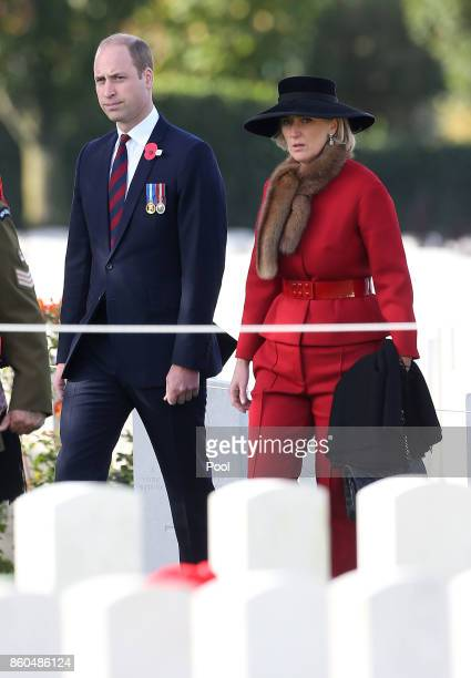 Prince William Duke of Cambridge and Princess Astrid of Belgium attend the New Zealand national commemoration for the Battle of Passchendaele at Tyne...