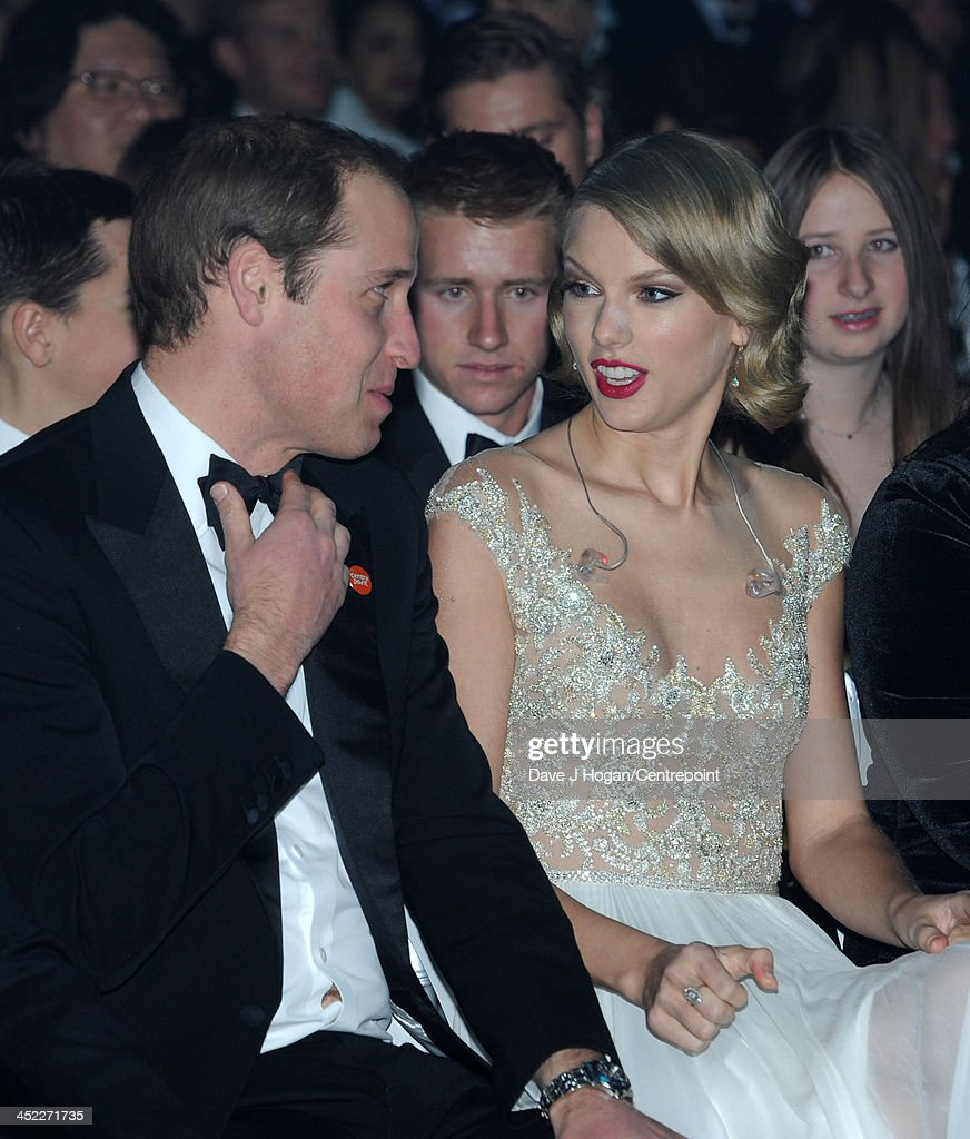 Prince William, Duke of Cambridge and Taylor Swift attend the Winter Whites Gala In Aid Of Centrepoint on November 26, 2013 in London, England.