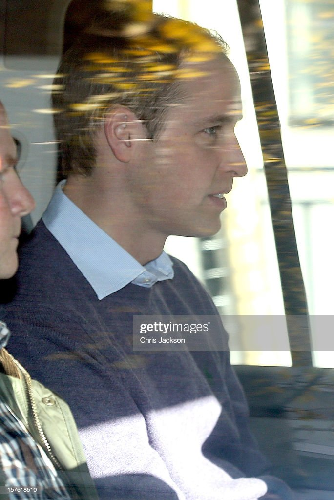 Prince William, Duke of Cambridge arrives at the King Edward VII Private Hospital on December 4, 2012 in London, England. Catherine, Duchess of Cambridge spent her first night in the hospital after yesterday's announement of her pregnancy and the fact she was suffering from hyperemesis gravidarum or acute morning sickness.
