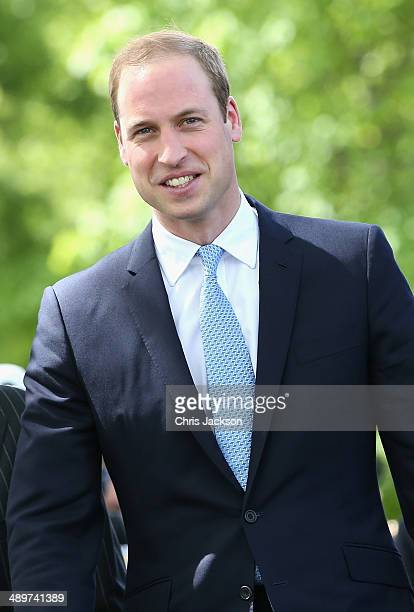 Prince William Duke of Cambridge arrives at the Royal Navy Submarine Museum on May 12 2014 in Gosport England