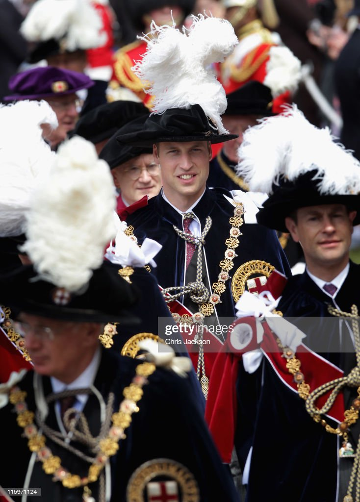 <a gi-track='captionPersonalityLinkClicked' href=/galleries/search?phrase=Prince+William&family=editorial&specificpeople=178205 ng-click='$event.stopPropagation()'>Prince William</a>, Duke of Cambridge arrives for the Garter Service at St George's Chapel in Windsor Castle on June 13, 2011 in Windsor, England. The Order of the Garter is the senior and oldest British Order of Chivalry, founded by Edward III in 1348. Membership in the order is limited to the sovereign, the Prince of Wales, and no more than twenty-four members.