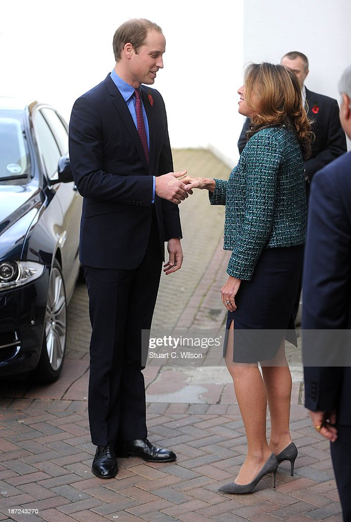 <a gi-track='captionPersonalityLinkClicked' href=/galleries/search?phrase=Prince+William&family=editorial&specificpeople=178205 ng-click='$event.stopPropagation()'>Prince William</a>, Duke of Cambridge arrives to visit the Royal Marsden Hospital at The Royal Marsden on November 7, 2013 in Sutton, Greater London.