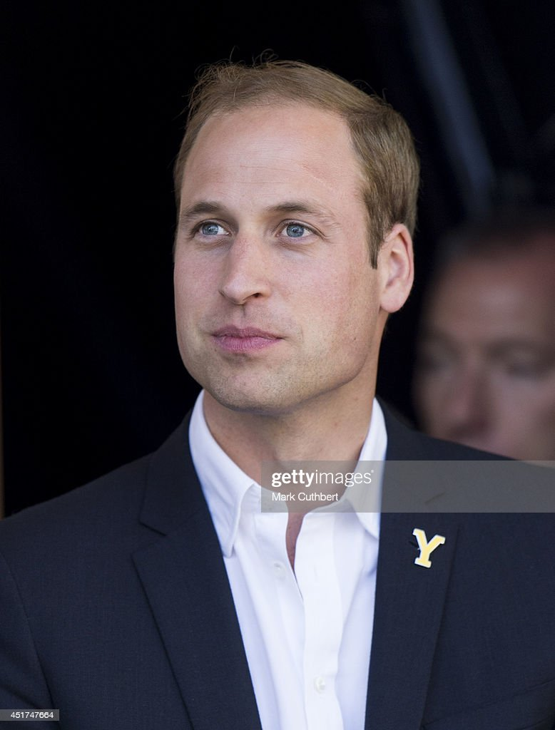 Prince William, Duke of Cambridge at the finish line of stage one of The Tour de France on July 5, 2014 in Harrogate, England.