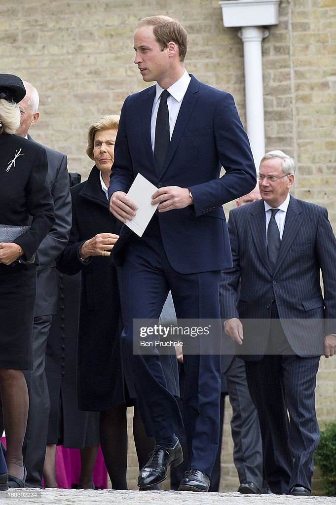 <a gi-track='captionPersonalityLinkClicked' href=/galleries/search?phrase=Prince+William&family=editorial&specificpeople=178205 ng-click='$event.stopPropagation()'>Prince William</a>, Duke of Cambridge attends a requiem mass for Hugh van Cutsem who passed away on September 2nd 2013 at Brentwood Cathedral on September 11, 2013 in Brentwood, England.
