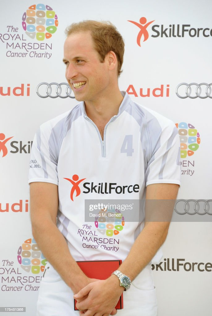 <a gi-track='captionPersonalityLinkClicked' href=/galleries/search?phrase=Prince+William&family=editorial&specificpeople=178205 ng-click='$event.stopPropagation()'>Prince William</a>, Duke of Cambridge, attends day 1 of the Audi Polo Challenge at Coworth Park Polo Club on August 3, 2013 in Ascot, England.