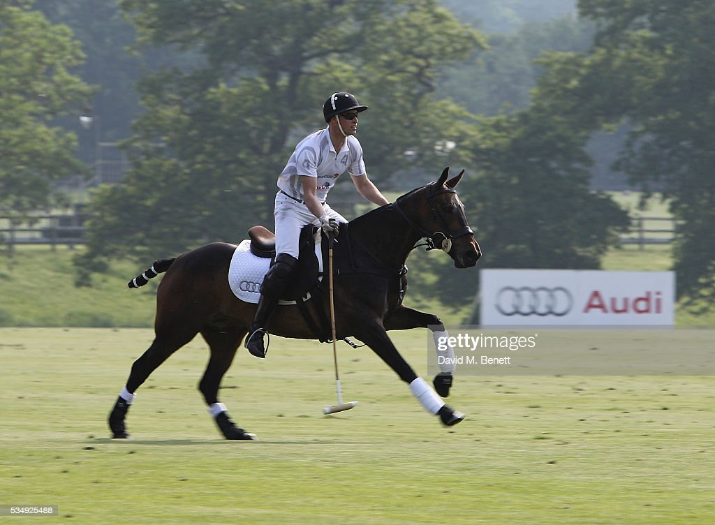 Prince William, Duke of Cambridge attends day one of the Audi Polo Challenge at Coworth Park on May 28, 2016 in London, England.