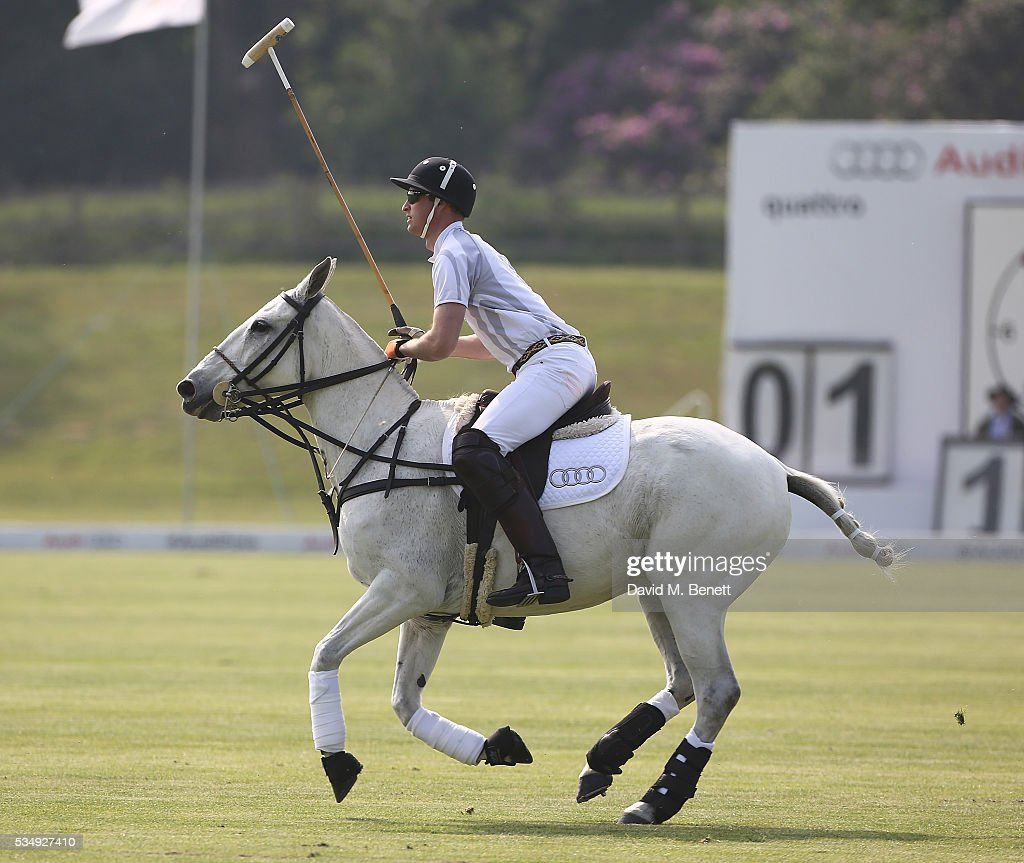 <a gi-track='captionPersonalityLinkClicked' href=/galleries/search?phrase=Prince+William&family=editorial&specificpeople=178205 ng-click='$event.stopPropagation()'>Prince William</a>, Duke of Cambridge attends day one of the Audi Polo Challenge at Coworth Park on May 28, 2016 in London, England.