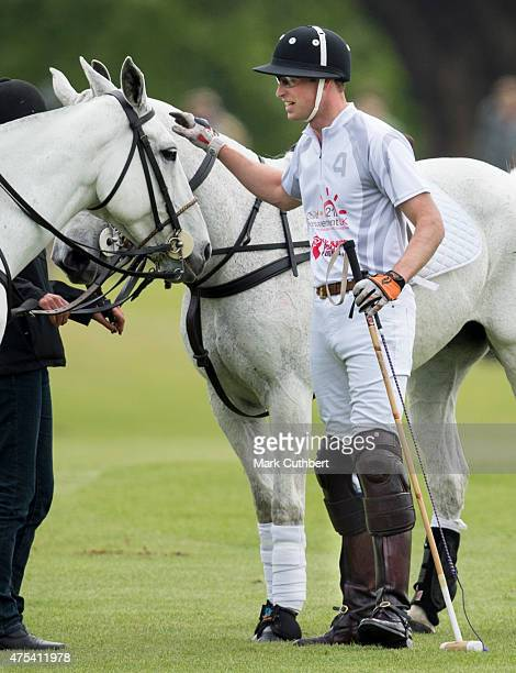 Prince William Duke of Cambridge attends day two of the Audi Polo Challenge at Coworth Park on May 31 2015 in London England