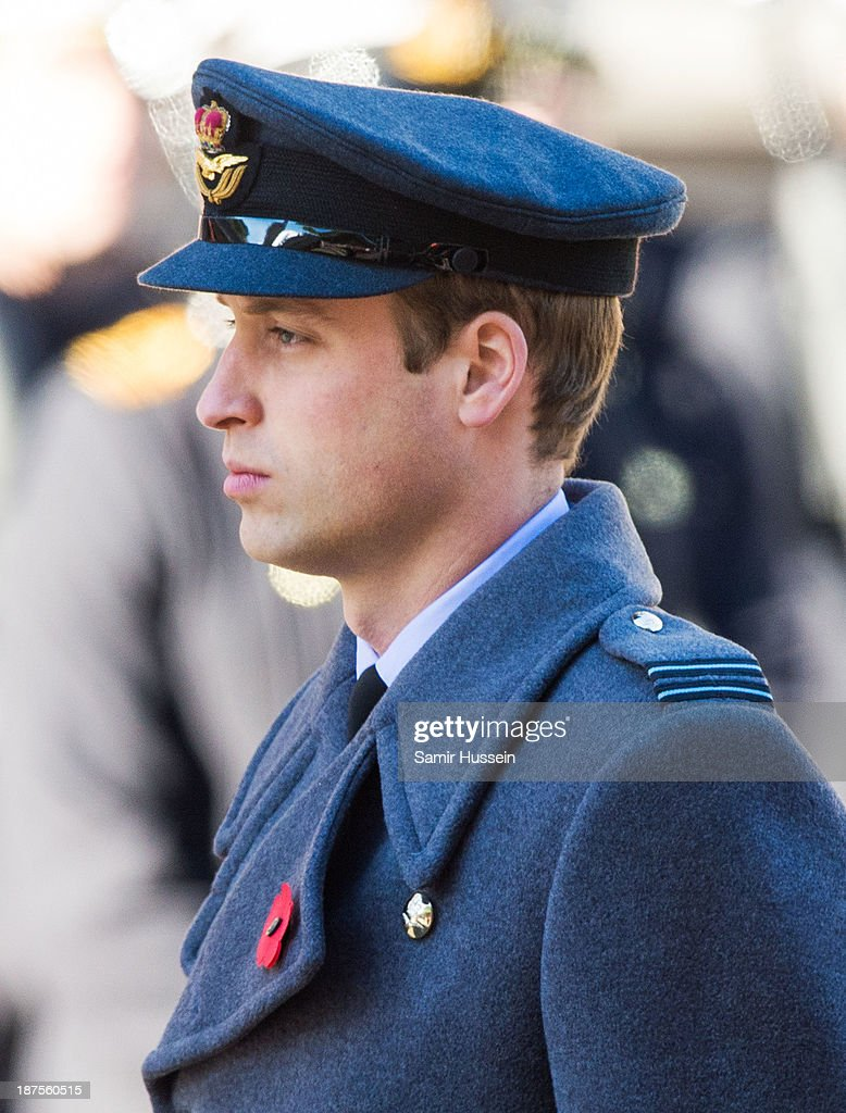 Prince William, Duke of Cambridge attends Remembrance Sunday at the Cenotaph on Whitehall on November 10, 2013 in London, England.