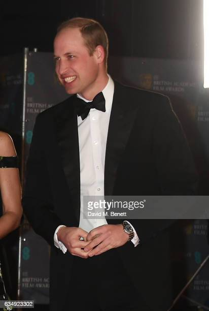 Prince William Duke of Cambridge attends the 70th EE British Academy Film Awards at Royal Albert Hall on February 12 2017 in London England