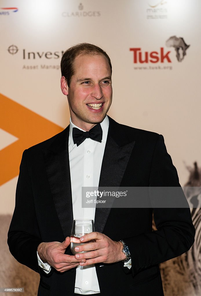 Prince William, Duke of Cambridge attends the annual Tusk Trust Conservation awards at Claridge's Hotel on November 24, 2015 in London, England.
