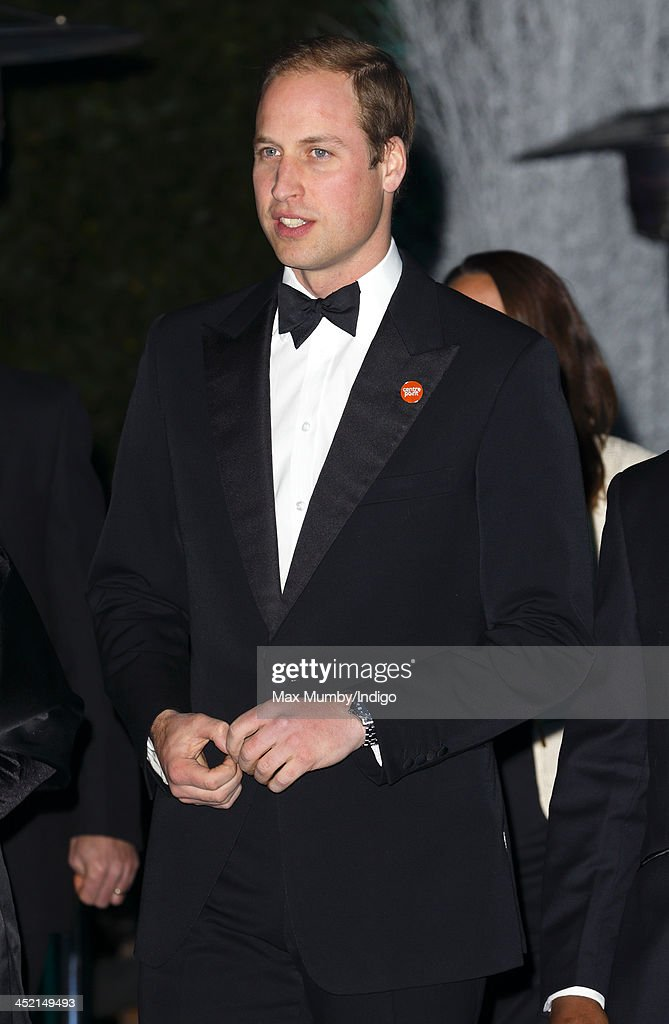 Prince William, Duke of Cambridge attends the Centrepoint Winter Whites Gala at Kensington Palace on November 26, 2013 in London, England.