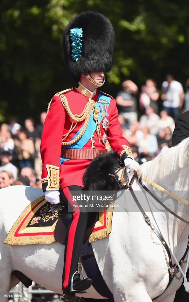 Prince William, Duke of Cambridge attends the Colonel's Review at the Queen Victoria Memorial on June 10, 2017 in London, England.