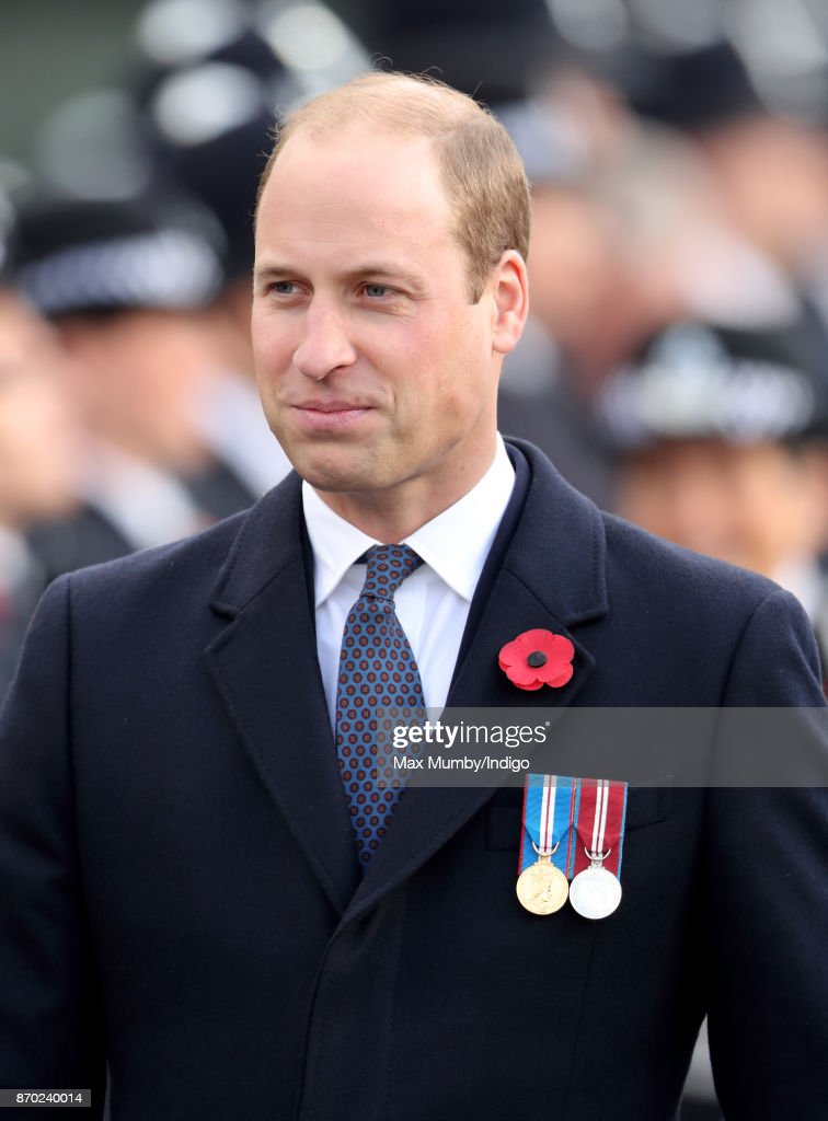 Prince William, Duke of Cambridge attends the Metropolitan Police Service Passing Out Parade for new recruits at the Metropolitan Police Service Training College, Hendon on November 3, 2017 in London, England.