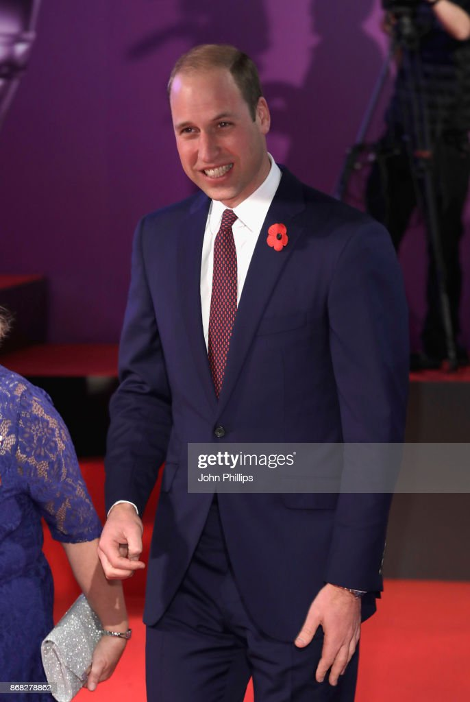 Prince William, Duke of Cambridge attends the Pride Of Britain Awards at Grosvenor House, on October 30, 2017 in London, England.