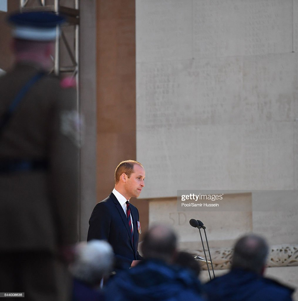 <a gi-track='captionPersonalityLinkClicked' href=/galleries/search?phrase=Prince+William&family=editorial&specificpeople=178205 ng-click='$event.stopPropagation()'>Prince William</a>, Duke of Cambridge attends the Somme Centenary commemorations at the Thiepval Memorial on June 30, 2016 in Thiepval, France.