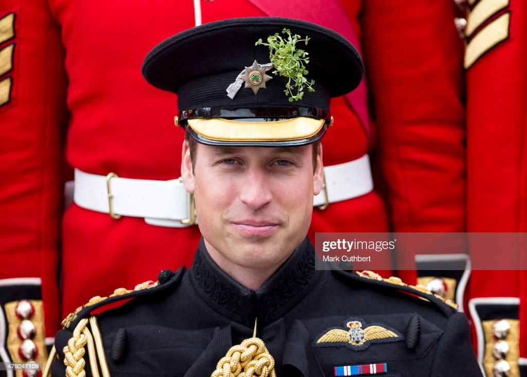 Prince William, Duke of Cambridge attends the St Patrick's Day parade at Mons Barracks on March 17, 2014 in Aldershot, England.