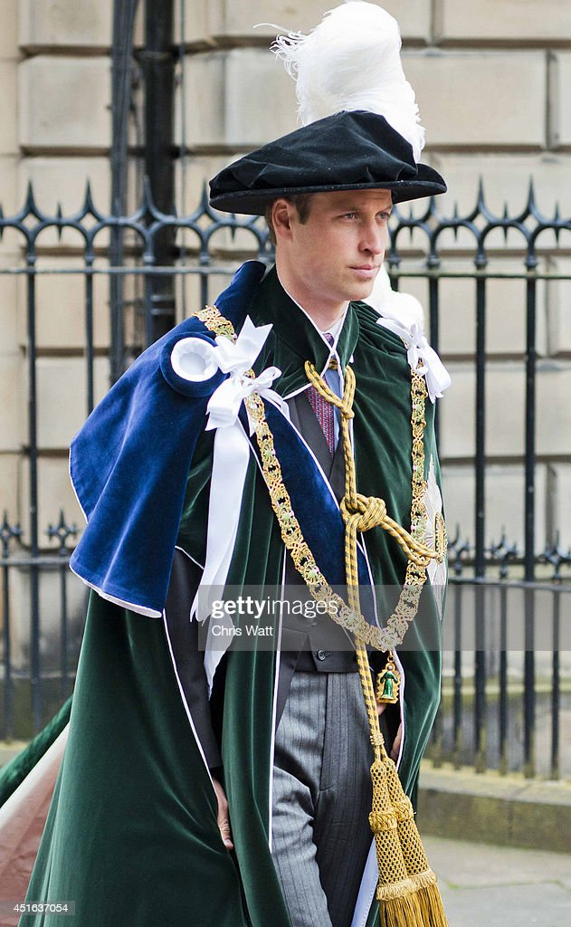 <a gi-track='captionPersonalityLinkClicked' href=/galleries/search?phrase=Prince+William&family=editorial&specificpeople=178205 ng-click='$event.stopPropagation()'>Prince William</a>, Duke Of Cambridge attends the Thistle Service at St Giles' Cathedral on July 3, 2014 in Edinburgh, Scotland. The Queen and The Duke of Edinburgh have spent the week in Scotland attending various events and staying at the Palace of Holyroodhouse. The visit comes before the referendum vote on the 18th September.