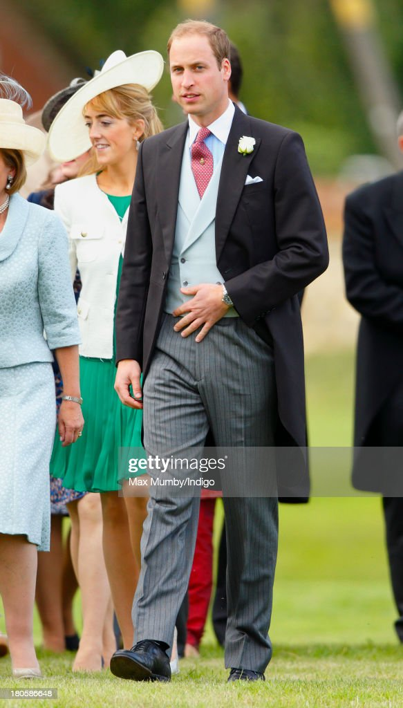 <a gi-track='captionPersonalityLinkClicked' href=/galleries/search?phrase=Prince+William&family=editorial&specificpeople=178205 ng-click='$event.stopPropagation()'>Prince William</a>, Duke of Cambridge attends the wedding of James Meade and Lady Laura Marsham at the Parish Church of St. Nicholas in Gayton on September 14, 2013 near King's Lynn, England.