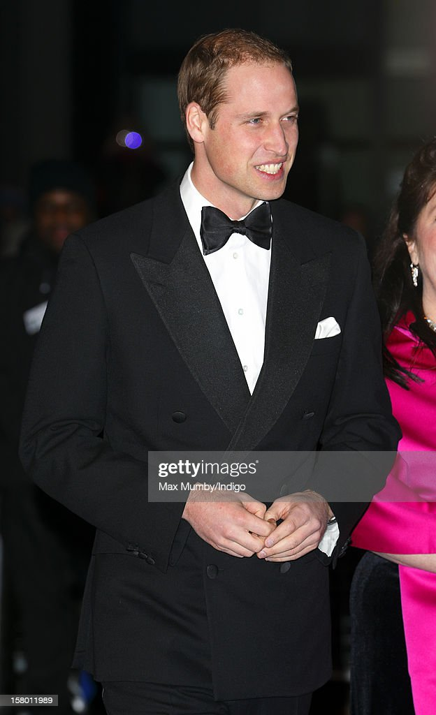Prince William, Duke of Cambridge attends the Winter Whites Gala, in aid of homeless charity Centrepoint, at The Royal Albert Hall on December 08, 2012 in London, England.
