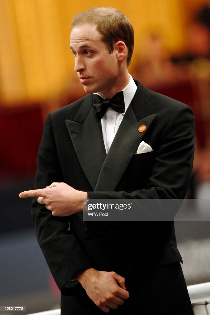 Prince William, Duke of Cambridge attends the Winter Whites Gala, in aid of the homeless charity Centrepoint, at the Royal Hallon December 8, 2012 in London, England.