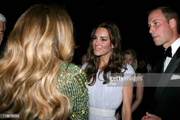 Prince William Duke of Cambridge Catherine Duchess of Cambridge and Jennifer Lopez attend the BAFTA 'Brits to Watch' event held at the Belasco...
