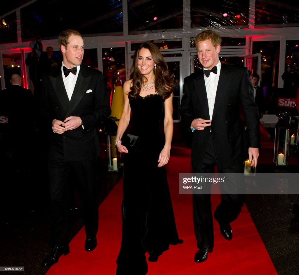 Prince William Duke of Cambridge Catherine Duchess of Cambridge and Prince Harry attend The Sun Military Awards at Imperial War Museum on December 19...